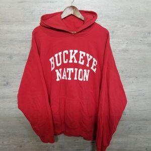 Vintage Ohio Buckeyes Hoodie Sweatshirt. AMAZING!